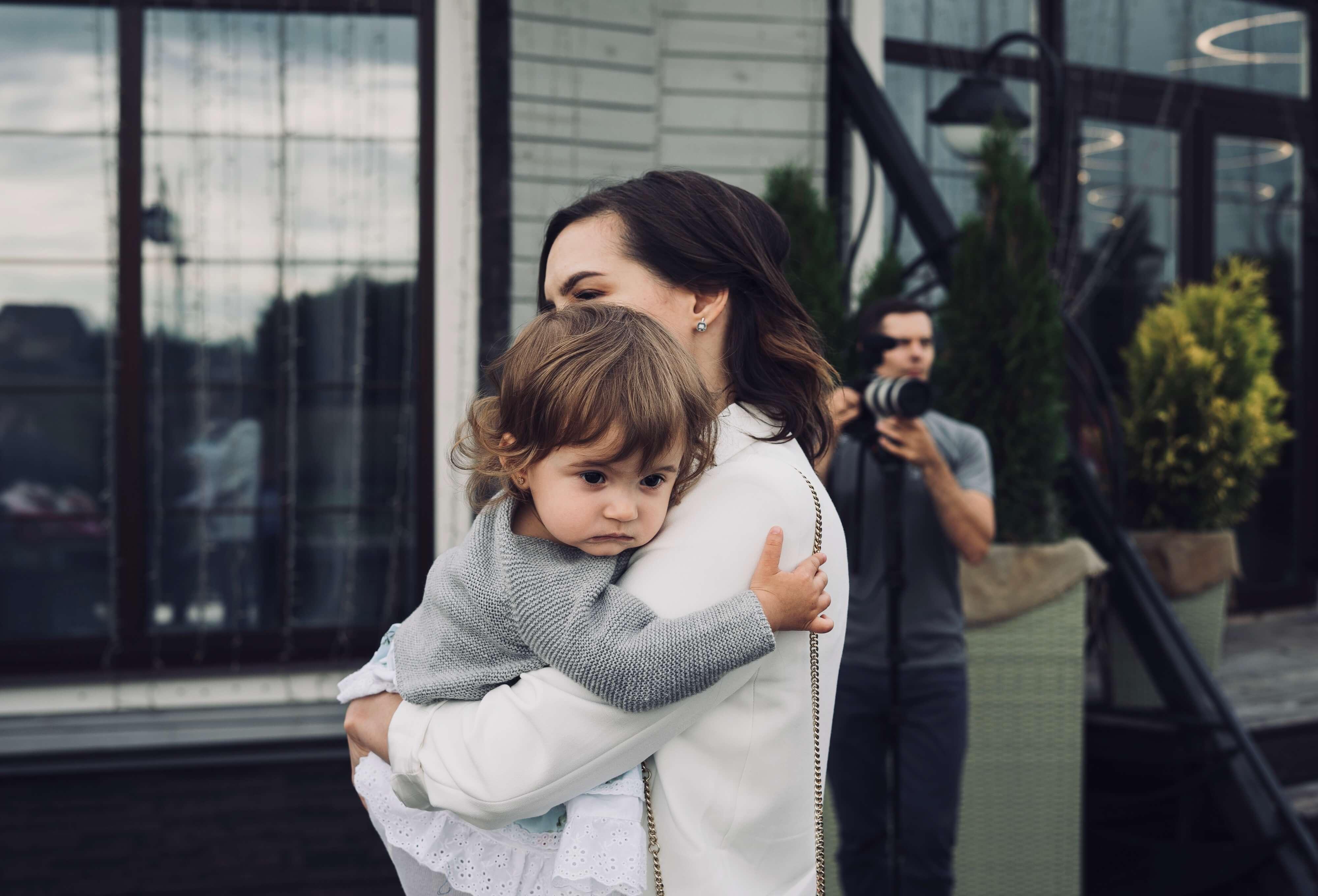 успокоить ребенка