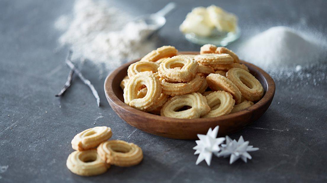 домашнее печенье творожные колечки